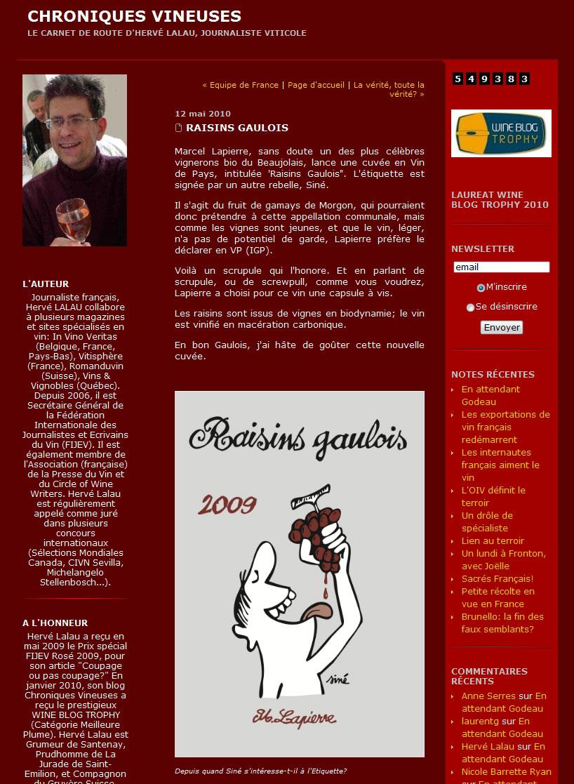 Raisins Gaulois